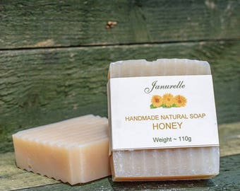 Honey soap. Natural handmade, skin irritant free, fragrance free, SLS and paraben free.