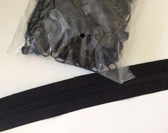 Fermeture eclair au metre noir 3 centimetre largeur