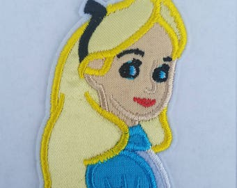 Alice in wonderland iron on inspired patch