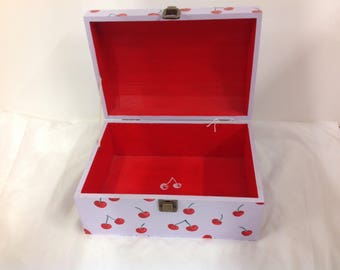 Large cherry jewellery chest