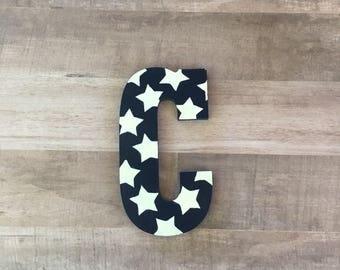 Star letter, star print, star decor, star nursery decor, americana decor, patriotic decor, star wall art, star baby shower, North Star decor