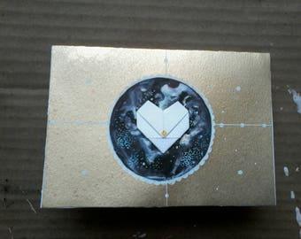 hand made space card, galaxy card, love friendship card