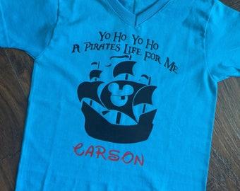 Yo Ho Yo Ho a Pirate's Life for Me shirt