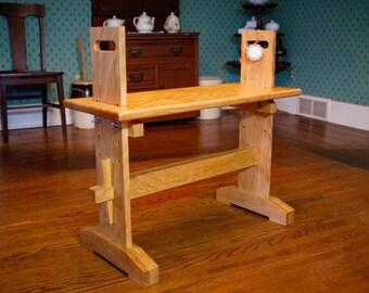 Larger Adjustable Weaver's Loom Bench