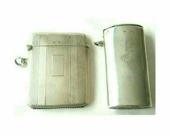1920s Mappin and Webb Vesta Case Vintage Collectible - 2 Styles (6880)