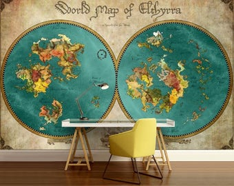 pirate map wallpaper, world map wallpaper, kids world map, pirates map wall decal, pirate kids map, old map wallpaper, old map wall decal