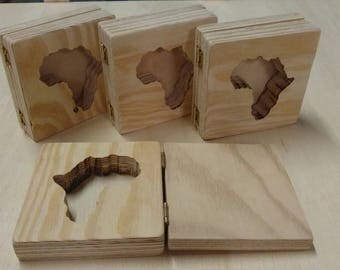 Africa Continent Soap Mold