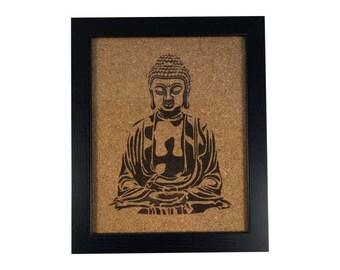 Buddha Stencil | Cork Art