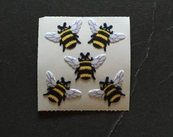 Sandylion Vintage Rare Fuzzy Bee Stickers
