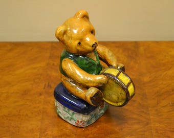 Bear Playing the Drum Statue
