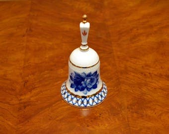 Blue And White Floral Bell