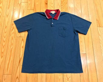 Munsingwear Polo shirt shortsleeve penguin logo light blue teal color red collar XL mens High quality macys nordstrom button up dressy