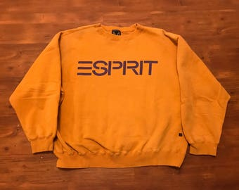 Vintage ESPIRIT Spell out crewneck sweater 1990's Hip Hop Jacket, Hugo Boss America , Polo sport spell out, Nautica Challenge medium-large
