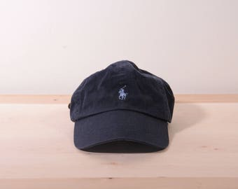 Polo by Ralph Lauren leather back hat in navy