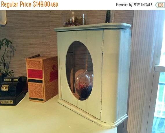 On Sale Antique Medicine Cabinet Bathroom Upcycled Terrarium
