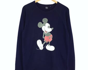 Rare!!! Vintage Mickey Mouse Sweatshirt Pullover Jumper Sweater Character Fashions Cartoon Disney