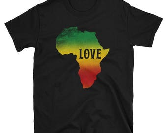 Love Africa Rasta Reggae T Shirt Tee Graphic Design
