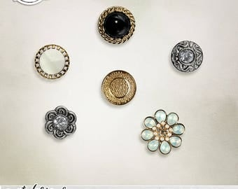 Vintage Buttons, Commercial Use, Embellishment, Digital Scrapbooking, Decorative Buttons