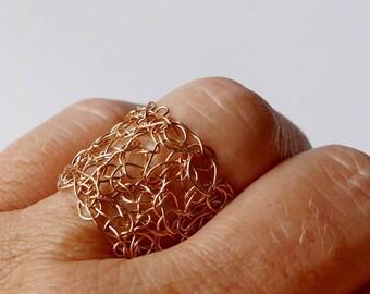 Bronze Ring crochet crochet ring bronze wire ring crochet bronze