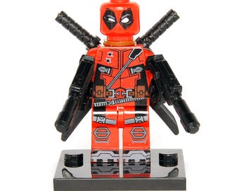 Deadpool Two Guns Custom Marvel Minifigure X-men Comics Compatible With Lego Super Hero Blocks Bricks Building Toys