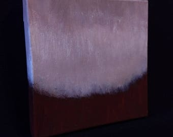 Ambient Painting 2017 #15 (Vitula) square acrylic on canvas white dark red abstract landscape non-objective