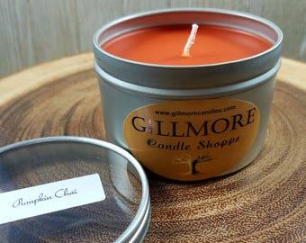 Pumpkin Chai Soy Wax 8 Oz Tin Candle