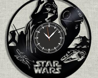 Star Wars vinyl record clock, Darth Vader wall vinyl clock, Best Gift for Decor