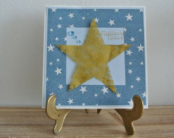 Greeting card - best wishes - star