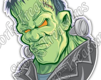 Frankenstein Monster Dead Creature Cartoon Car Bumper Vinyl Sticker Decal