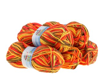 5 x 100 g yarn of 200 by VLNIKA, #18 Summerflower