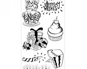 Fall Clearance: Sizzix Clear Stamps - Birthday Wishes  660634