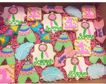 Little Girl Boho Cookies