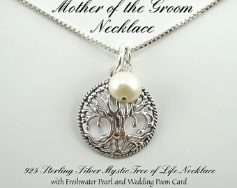 Mother of the Groom Gift, Gift for Mother of the Groom, Mother in law Gift, Wedding Gift, Sterling Silver, Mother of the groom necklace