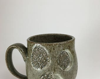 12oz Grey Scratch Mug