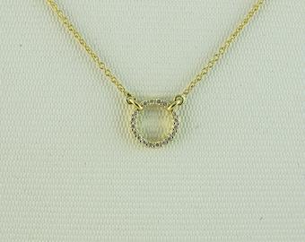 18 karat yellow gold diamond necklace genuine guaranteed valued at AUD 1,275