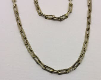 sterling silver link necklace  #223