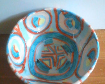 Hand made earthenware ceramic bowl