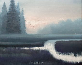 Winter Field - Oil painting