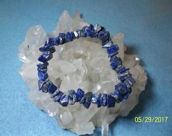 Lapis lazuli stretch chip bracelets
