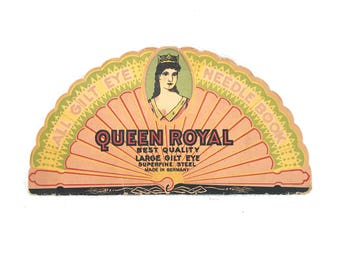 All Gilt Eye Queen Royal Needle Sewing Book Made in Germany