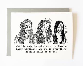 manson girls birthday card