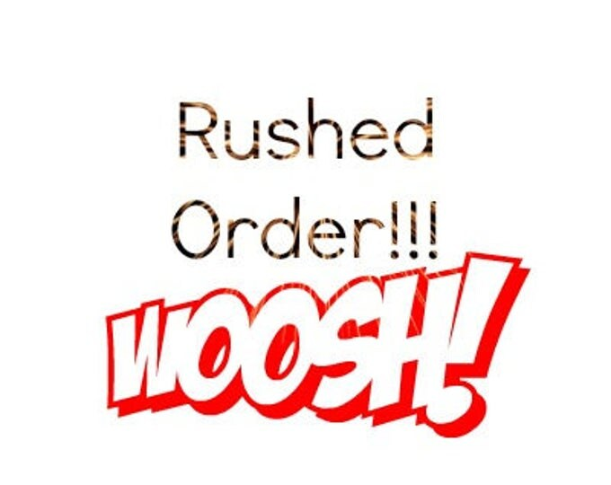 Rush your order and we mailed in 2 days!!!