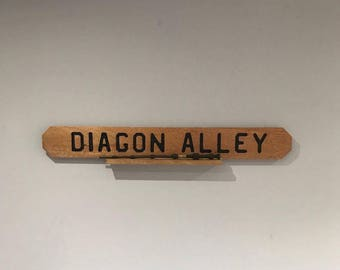 Wooden Harry Potter Diagon Alley Street Sign