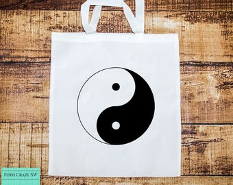 Tote Bag | Shopping Bag | Yoga Bag | Yin | Yang | Peace