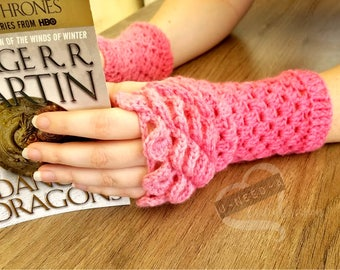 Dragon Scale Gloves - Bubblegum Collection
