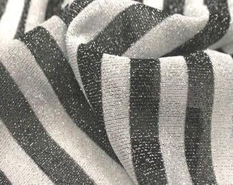 Sparkel Knit Black And White Stripe