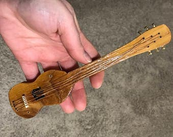 Mezuzah - Beautiful, Hand Carved Wood Guitar