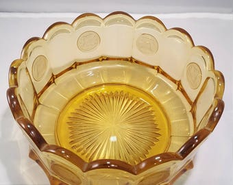 Fostoria Amber Coin Glass Bowl