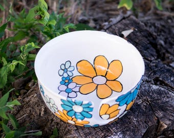 Falling Flowers Yarn Bowl