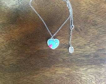 Heart Necklace with rhinestone